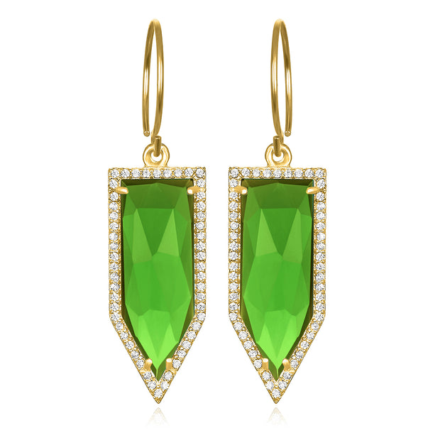 Paris Dagger Earring Lime Gold