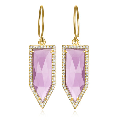 Paris Dagger Earring Light Purple Gold