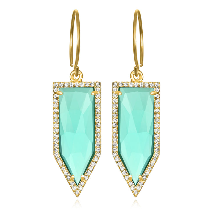 Paris Dagger Earring Seafoam Gold