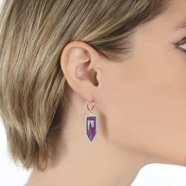 Paris Dagger Earring Violet Gold