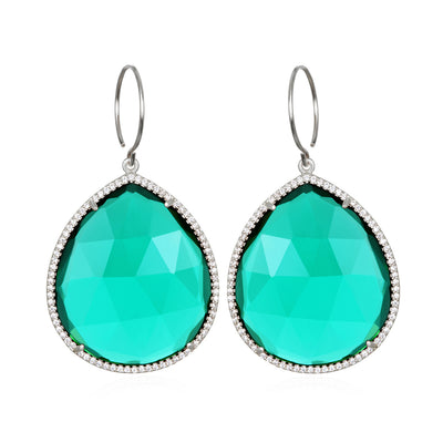 Paris Grand Teardrop Aqua Silver