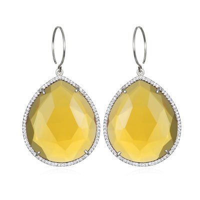 Paris Grand Teardrop Citrine Silver