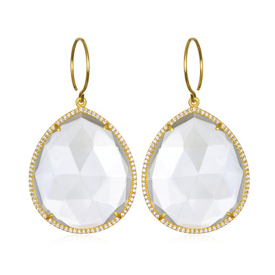 Paris Grand Teardrop Clear Gold