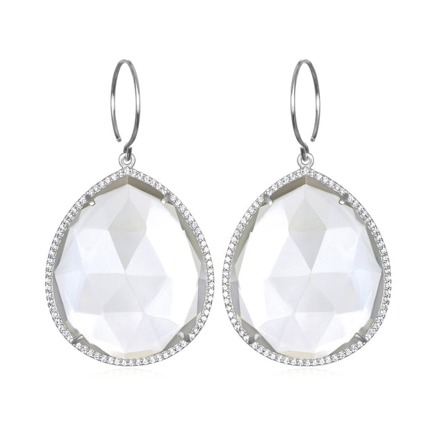 Paris Grand Teardrop Clear Silver