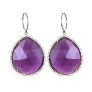 Paris Grand Teardrop Violet Silver