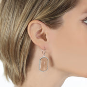 Paris Emerald Earring Peach Silver