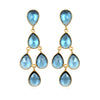 Sapphire Chandelier Earrings Gold