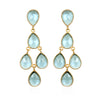 Chandelier Earrings - Seafoam Gold