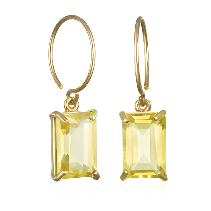 Chatham Earring-Lemon Quartz Gold