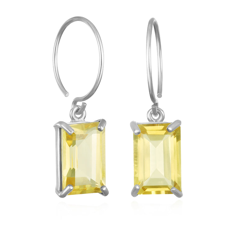 Chatham Earring-Lemon Quartz Silver