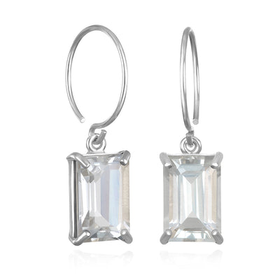 Chatham Earring-White Topaz Silver