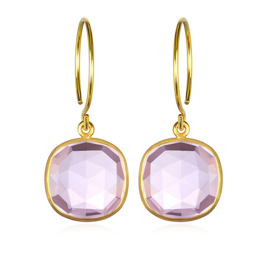 Catalina Cushion Earring Light Pink Gold