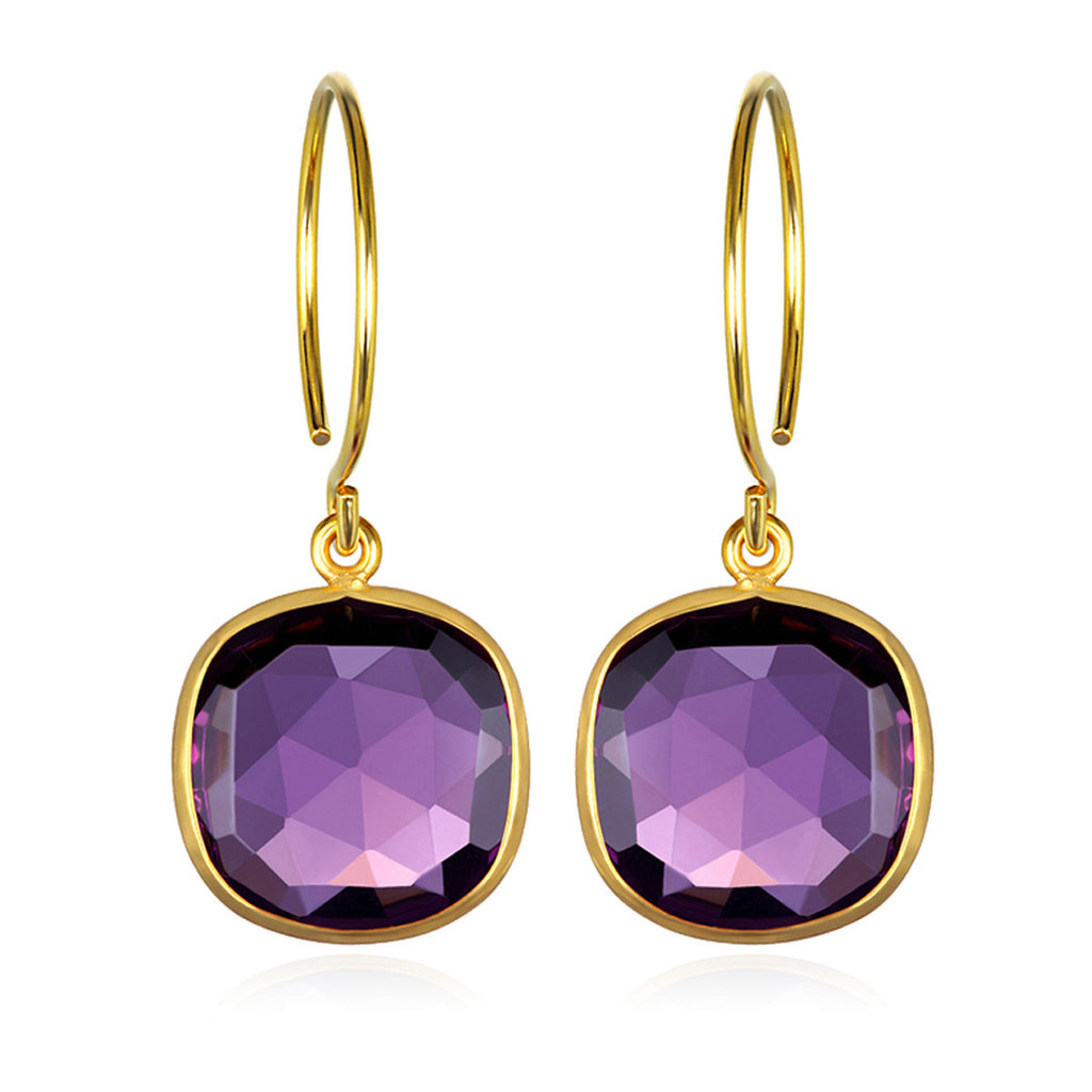 Catalina Cushion Earring Violet Gold