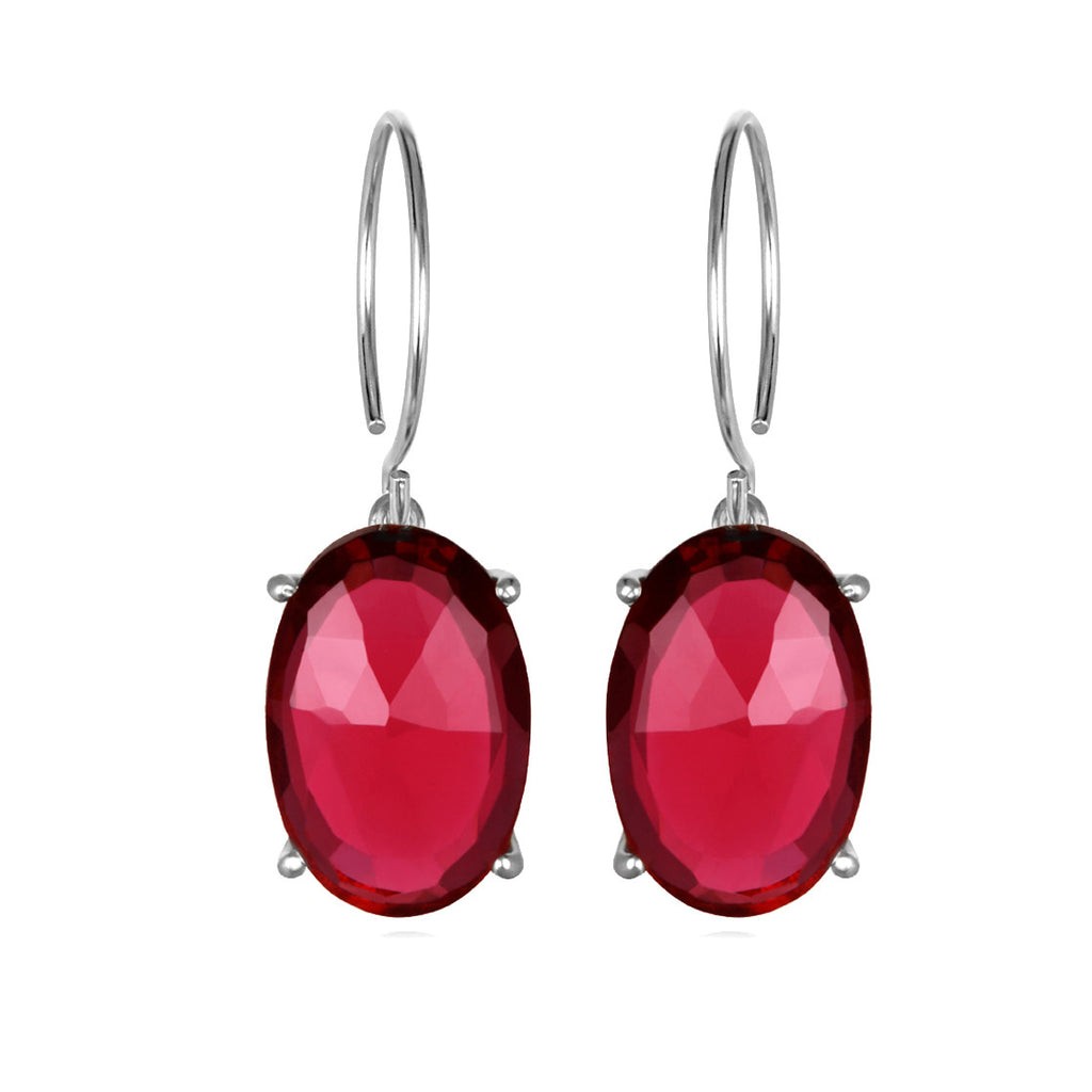 Catalina Oval-Ruby Pink Silver