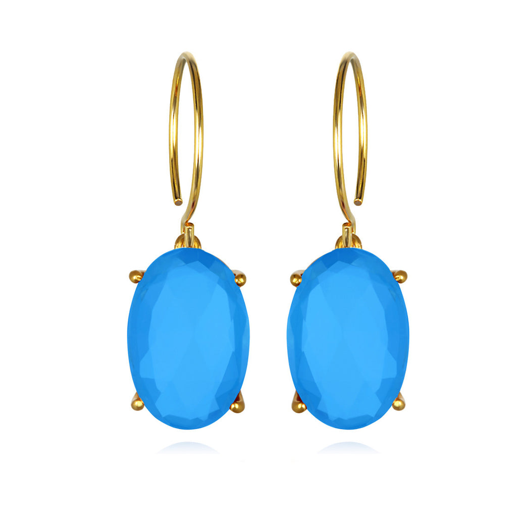 Catalina Oval-Blue Gold