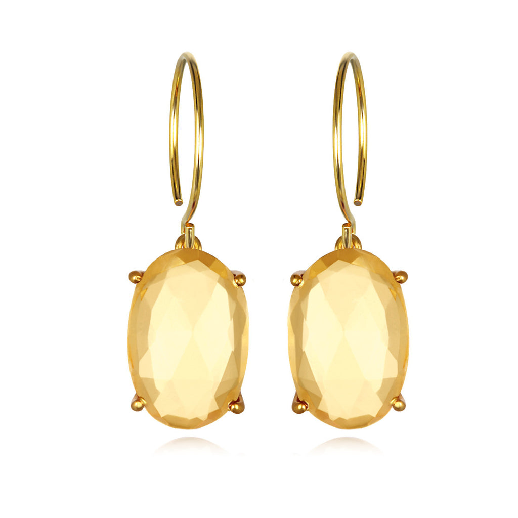 Catalina Oval-Citrine Gold