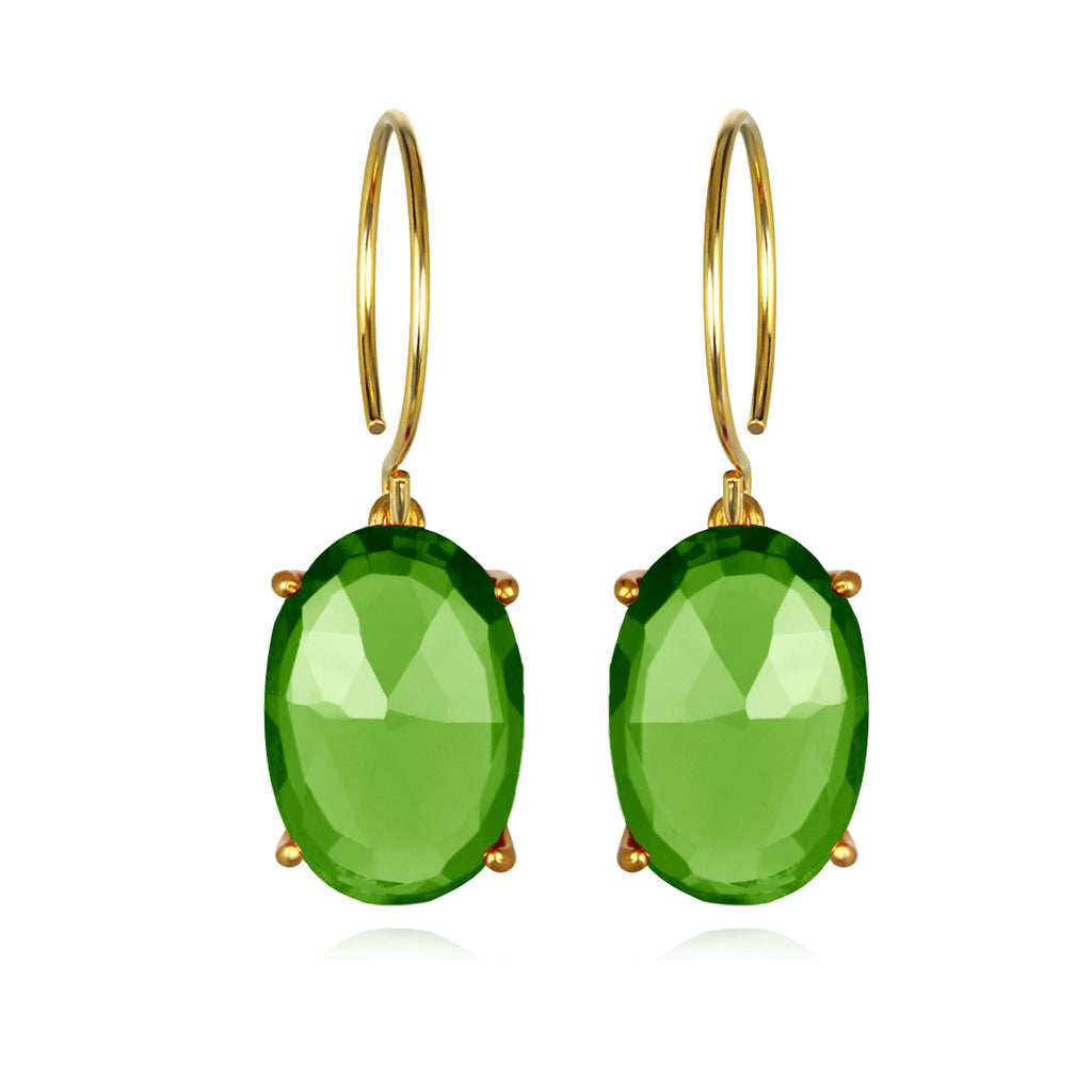 Catalina Oval-Lime Gold