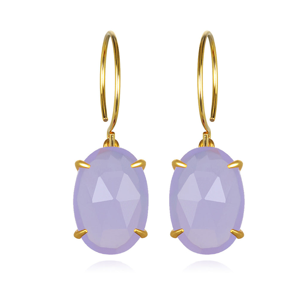 Catalina Oval-Light Purple Gold