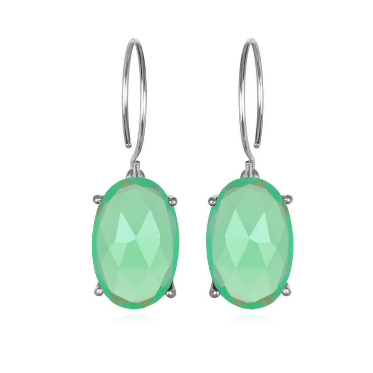 Catalina Oval-Mint Silver