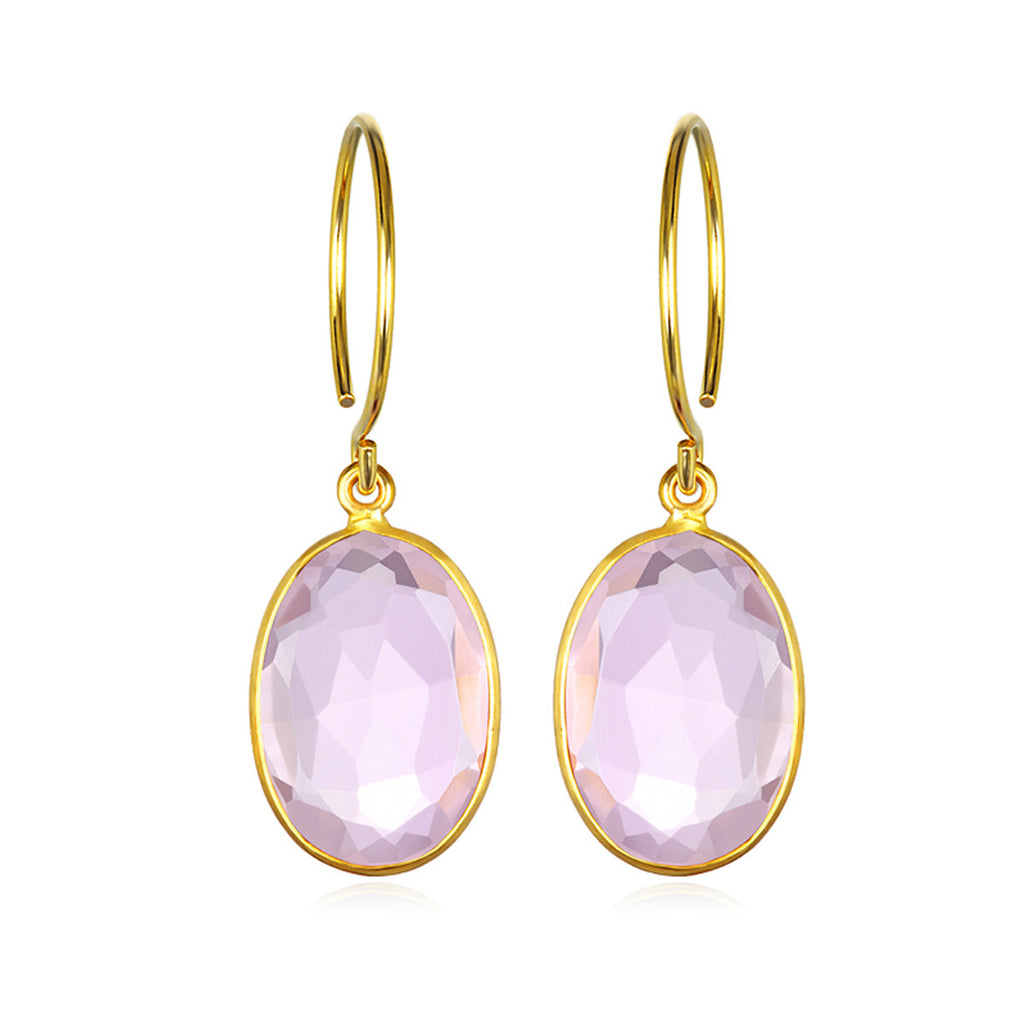 Catalina Oval Earring Light Pink Gold