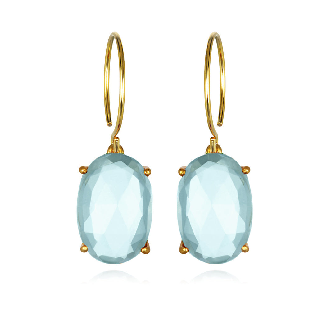 Catalina Oval-Sky Blue Gold