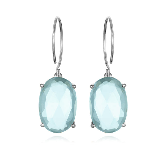 Catalina Oval-Sky Blue Silver