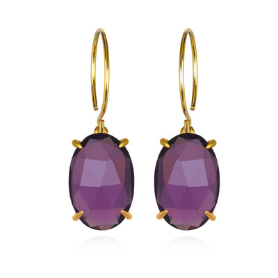 Catalina Oval-Violet Gold