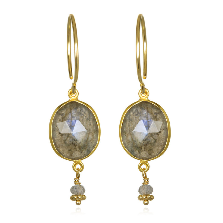 Lake Como Earring - Labradorite Gold