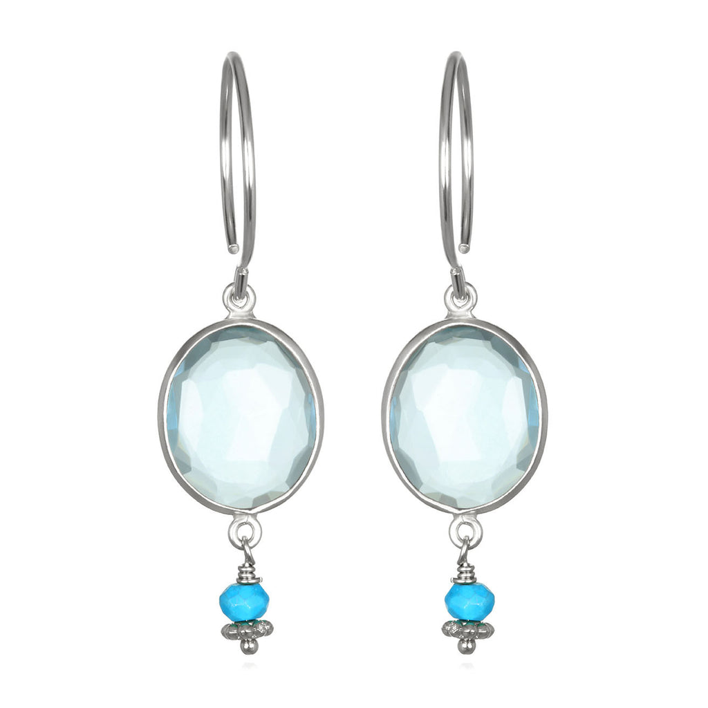 Lake Como Earring - Sky Blue Turquoise Silver