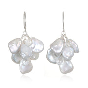 Keshi Pearl and White Topaz Earring