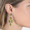 Chandelier Earrings - Lime Gold