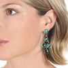 Mint Chandelier Earrings Silver
