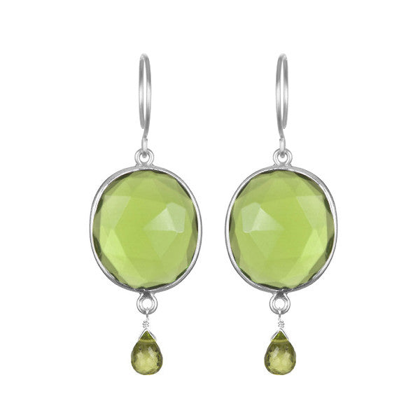 Cabo Gemdrop Earring-Lime Silver