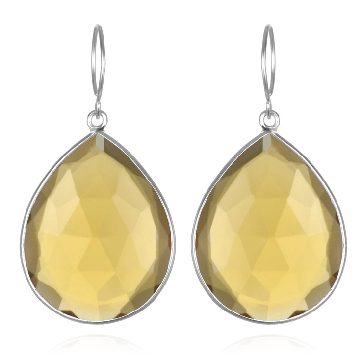 Cabo Grand Teardrop Earring-Sunflower Silver