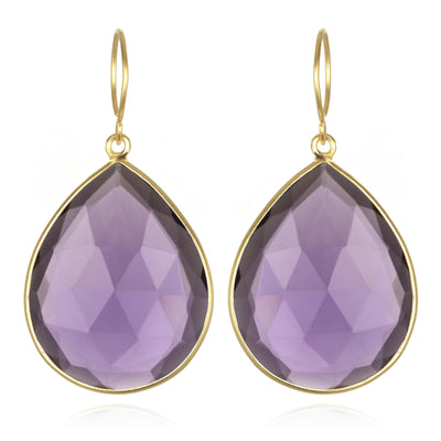 Cabo Grand Teardrop Earring-Violet Gold