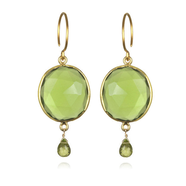 Cabo Gemdrop Earring-Lime Gold