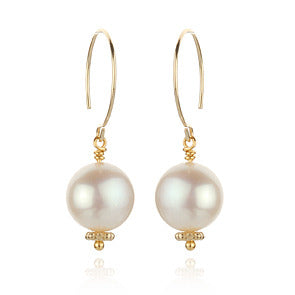 Paperwhite Pearl Earrings