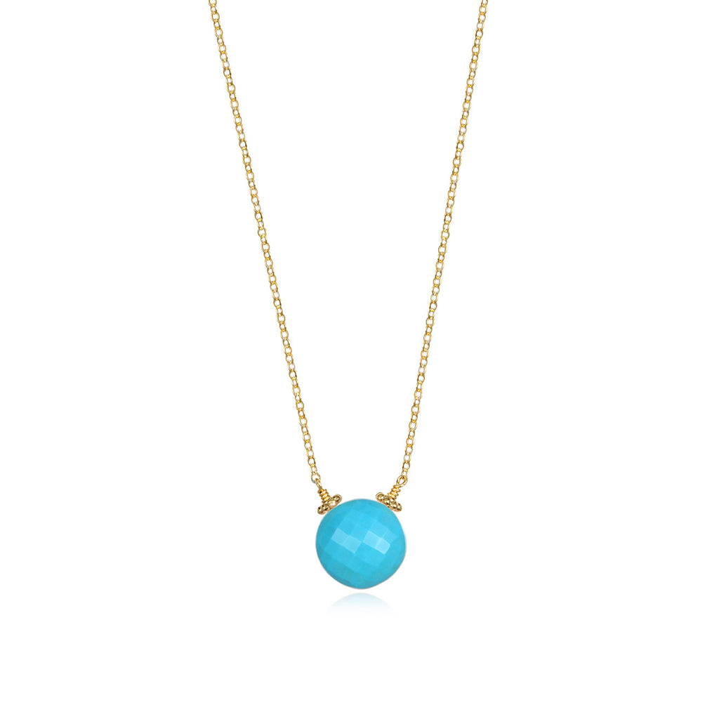 Coin Necklace - Turquoise Gold