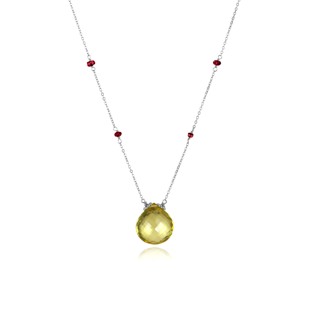 Catherine Necklace Lemon Berry Silver