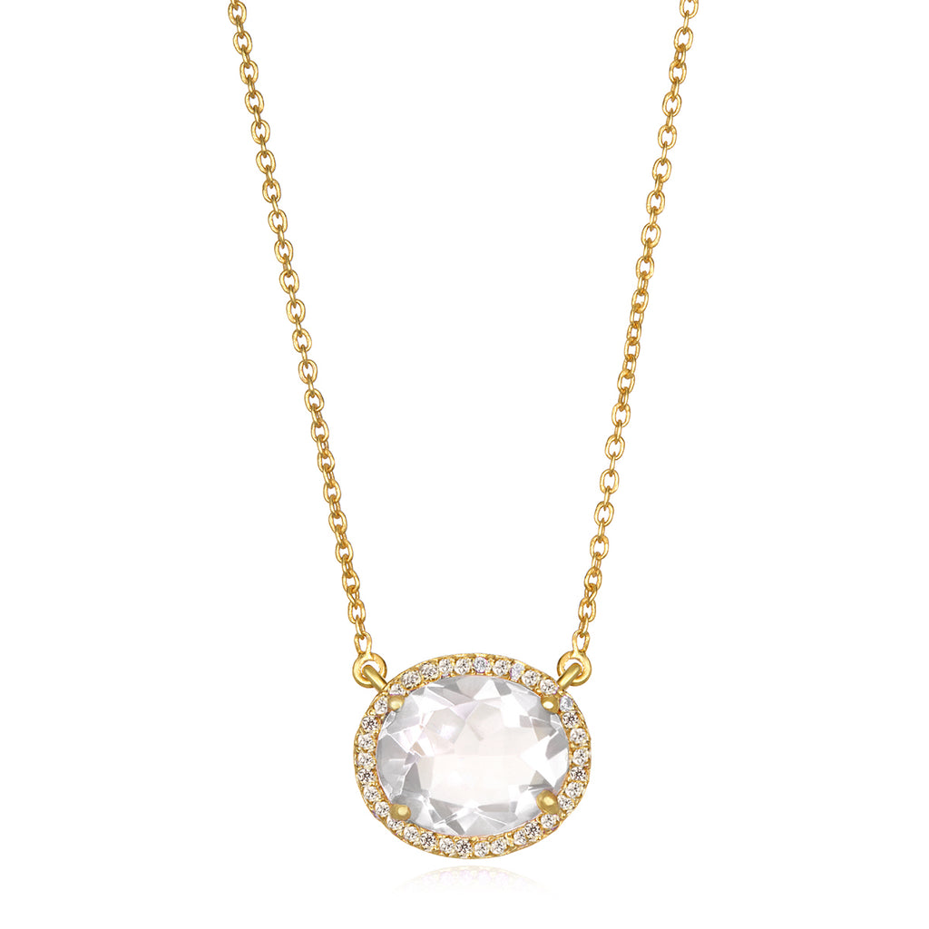 Charleston Necklace - Clear Gold