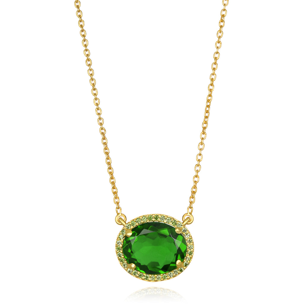 Charleston Necklace - Lime Green Gold