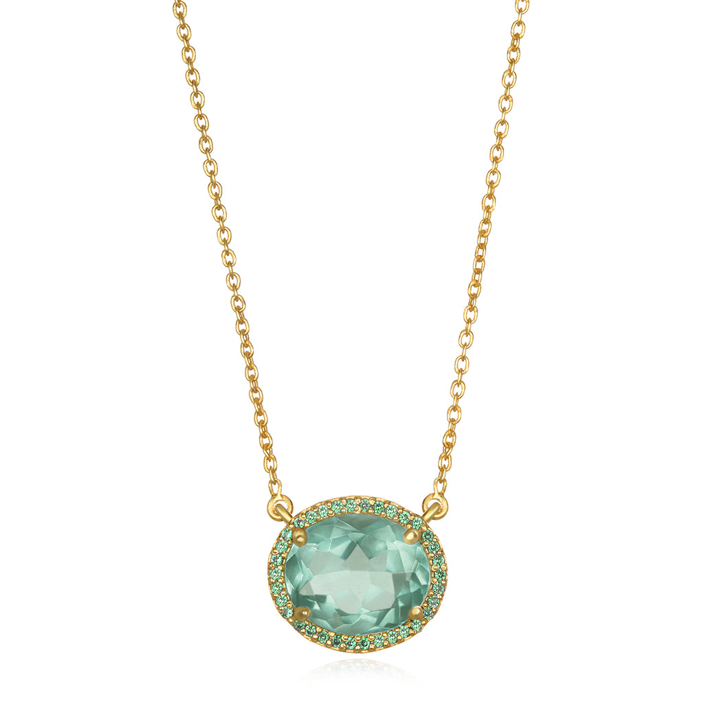 Charleston Necklace - Light Green Gold
