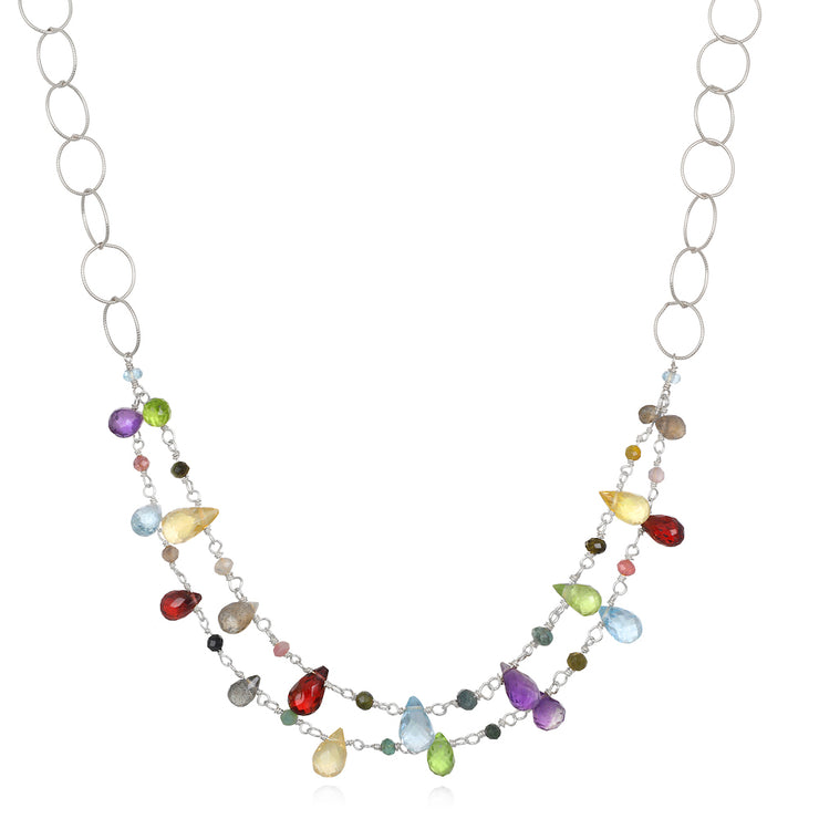 Layered Wildflower Necklace-Multi Color