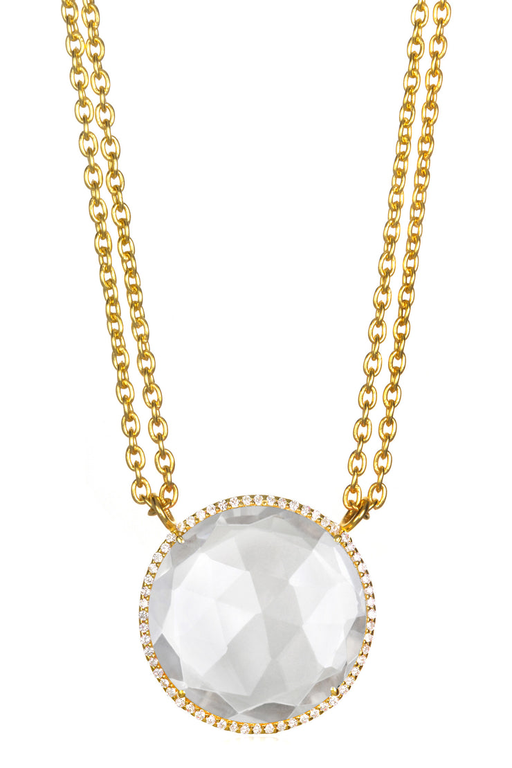 Paris Necklace-Crystal Gold
