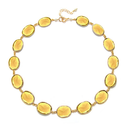 Cabo Link Necklace-Sunflower Yellow Gold