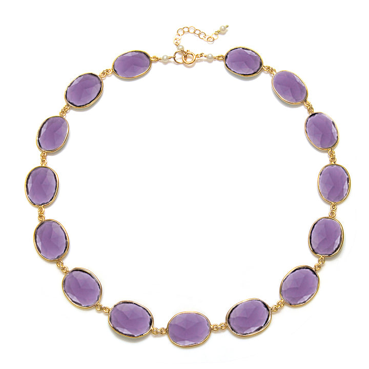 Cabo Link Necklace-Violet Gold