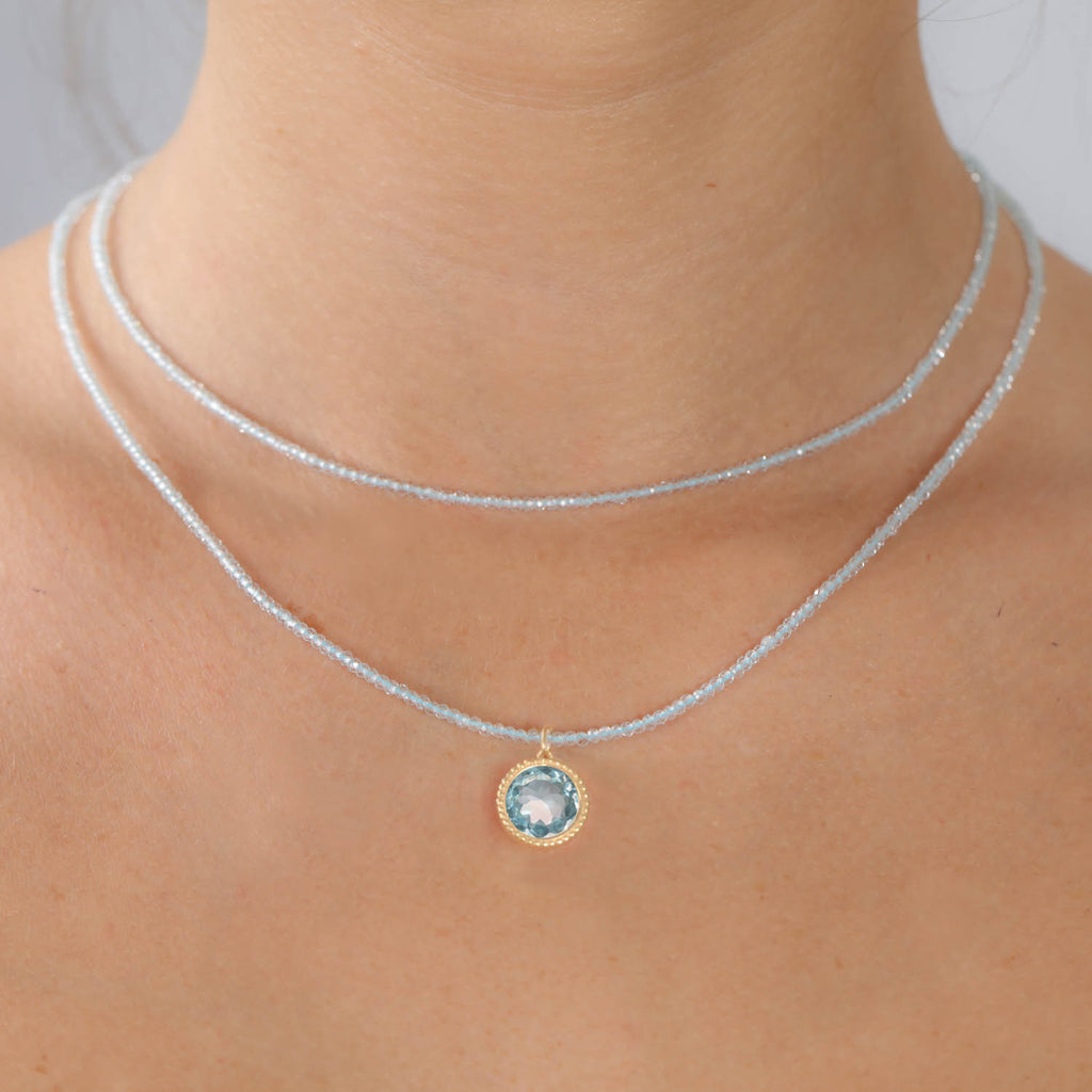 Daphne Necklace-Sky Blue Topaz
