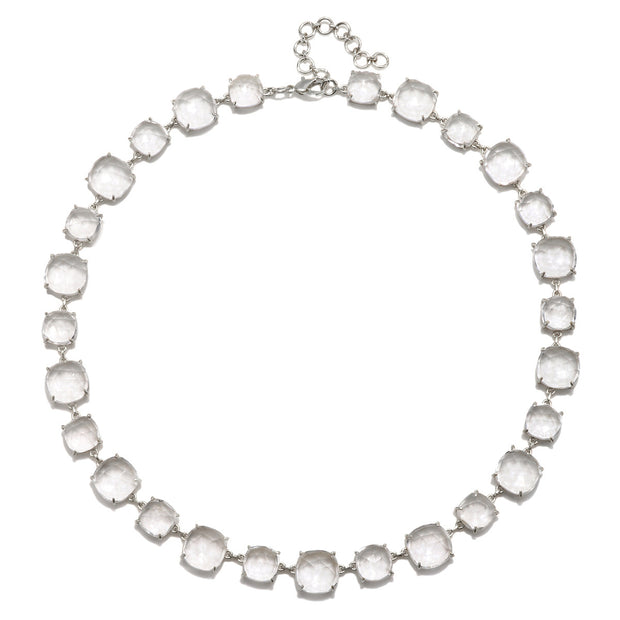 Catalina Necklace Cushion Clear Silver