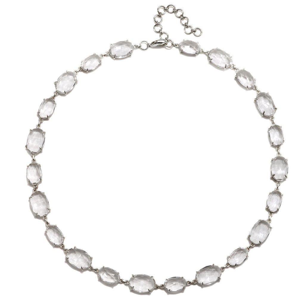 Catalina Necklace Oval Clear Quartz Silver