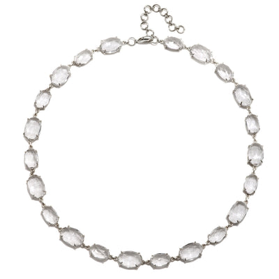 Catalina Necklace Oval Clear Quartz